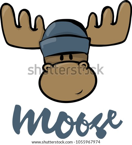 Moose Head Cartoon
