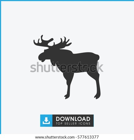 moose icon illustration isolated vector sign symbol