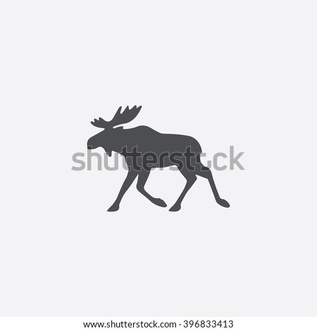 Moose Icon Vector.