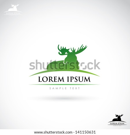 moose label   vector