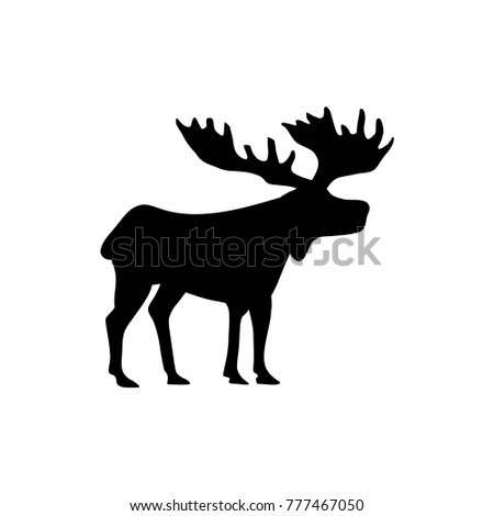 moose  logo design template vector illustration