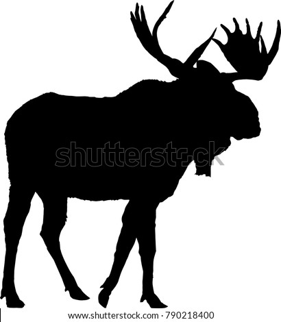 Moose Silhouette Vector Illustration