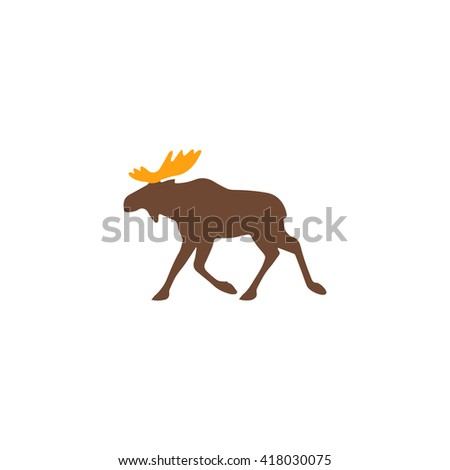 moose simple flat vector icon