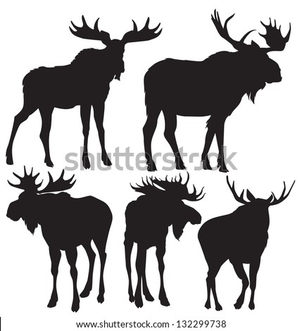 moose vector silhouette