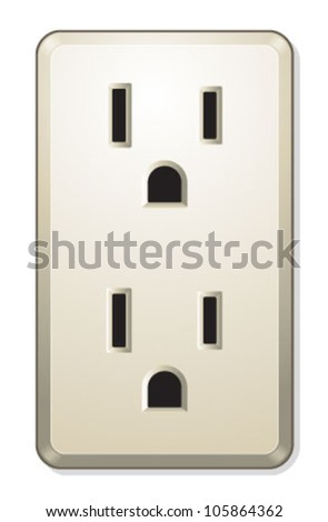 More Electric Outlet - stock vector