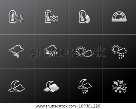 More weather icon series in metallic style