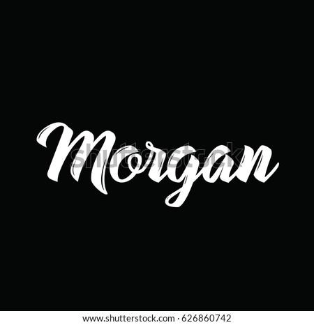 morgan  text design vector