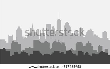Morning Boston City Skyline