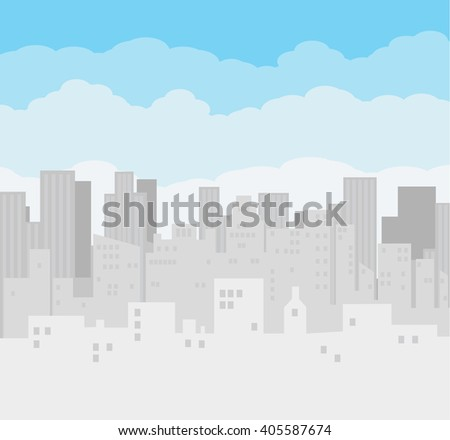 morning city skyline buildings