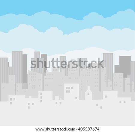 morning city skyline buildings