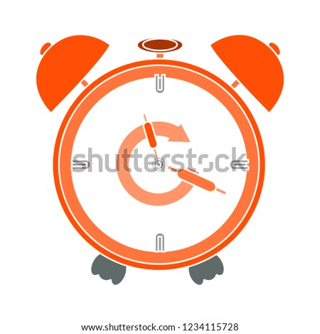 morning clock alarm isolated vector - deadline time illustration sign . wake hour sign symbol