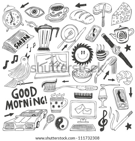 morning doodles collection