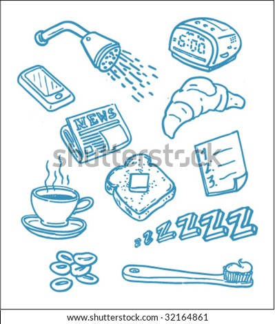 Morning Drawings - Vector Illustrations