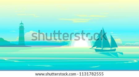 morning dusk over sailing