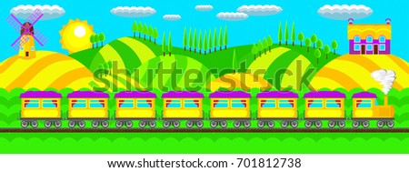 morning landscape train in the