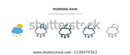 morning rain icon in different