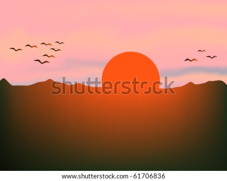 Birds Flying Sunrise Sunrise And Flying Birds