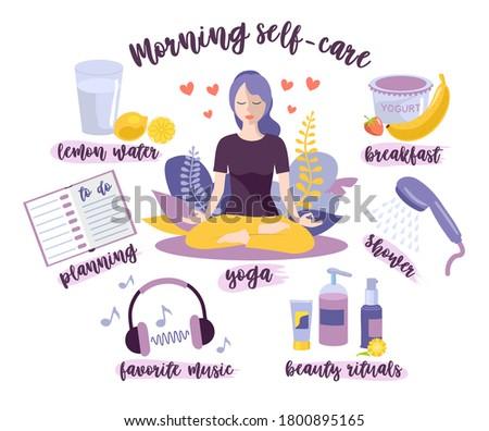 morning self care woman self