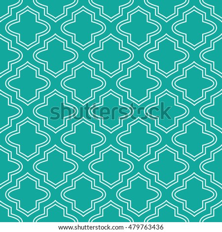 moroccan pattern teal