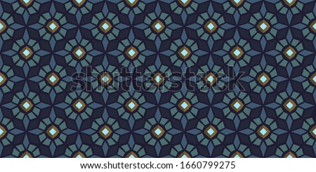 Moroccan tile pattern octagonal flowers stars antique motif. Traditional geometric oriental mosaic ornament for patchwork fabric, swimwear, apparel textile, wrapping cloth, home interior decoration. Photo stock ©