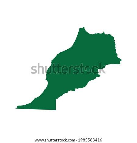 Morocco Map. Morocco Map vector illustration. Morocco Map silhouette
