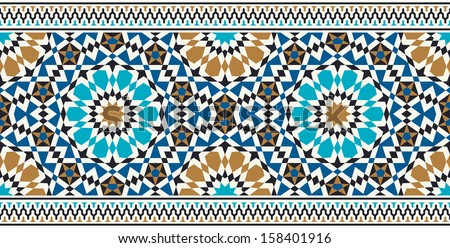Islamic border vector download free vector art stock graphics morocco seamless border traditional islamic design mosque decoration element thecheapjerseys Images