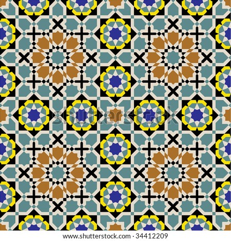 Morocco Seamless Pattern. Traditional Arabic Islamic Background
