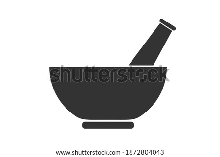 Mortar and a pestle. Simple icon. Flat style element for graphic design. Vector EPS10 illustration Stockfoto ©