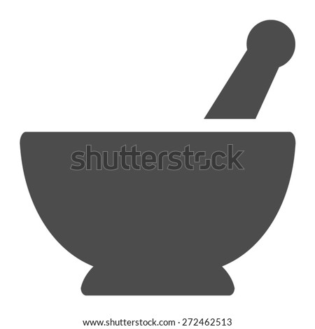 mortar and pestle pharmacy flat