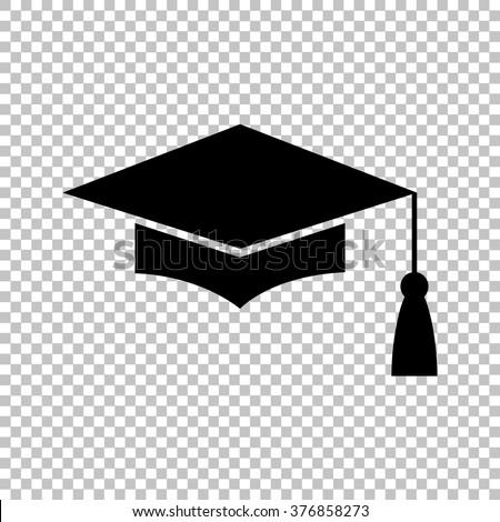 Mortar Board or Graduation Cap, Education symbol. Flat style icon vector illustration.