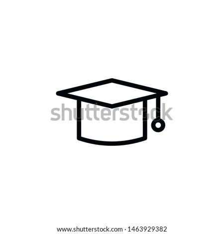 Mortarboard, graduate, cap icon. Element of Education icon. Thin line icon