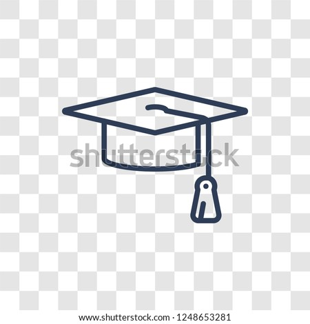 Mortarboard icon. Trendy linear Mortarboard logo concept on transparent background from Startup Strategy and Success collection