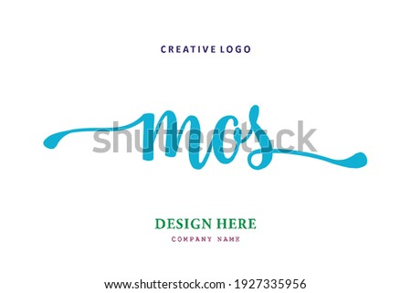 MOS lettering logo is simple, easy to understand and authoritative Stock fotó ©