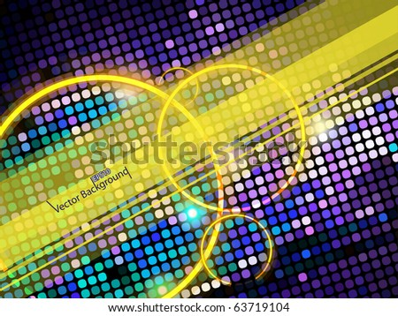 Mosaic background or business card. EPS10 Vector.