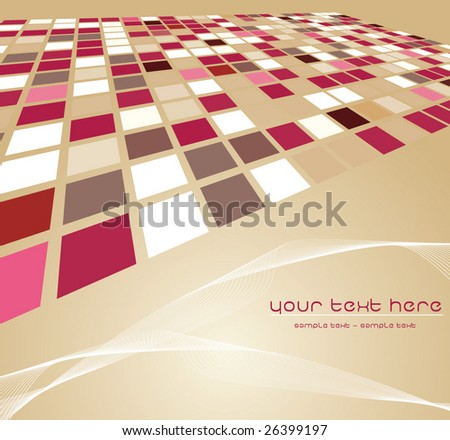 Mosaic color illustration vector design