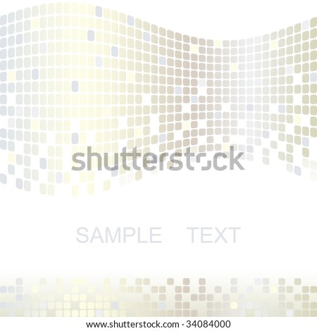 Mosaic color illustration vector design - stock vector