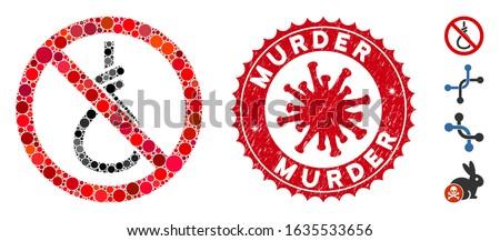 mosaic no suicide loop icon and