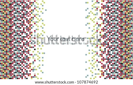 mosaic of color gradient, vector illustration