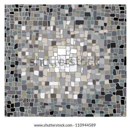 Mosaic pattern - stock vector
