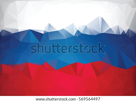 mosaic russian flag low poly