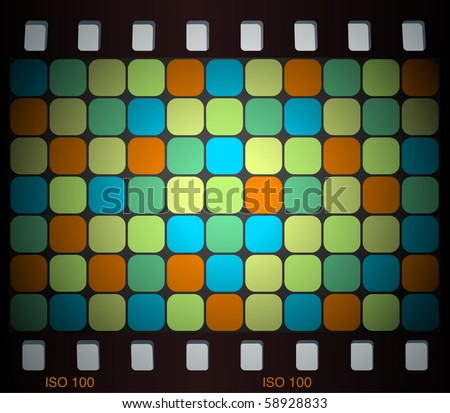 mosaic slide in retro colors
