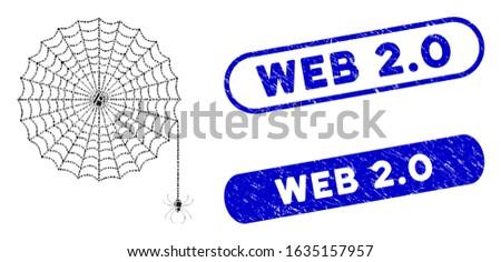 mosaic spider net and grunge