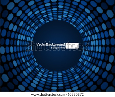 Mosaic tunnel vector background