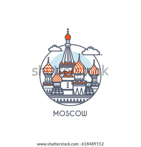 moscow city flat line color