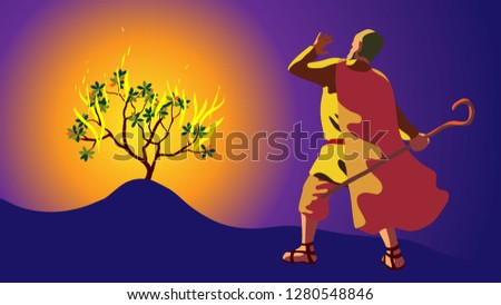 moses in desert  on mount sinai