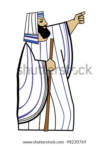 Moses, leader of the Hebrews - stock vector