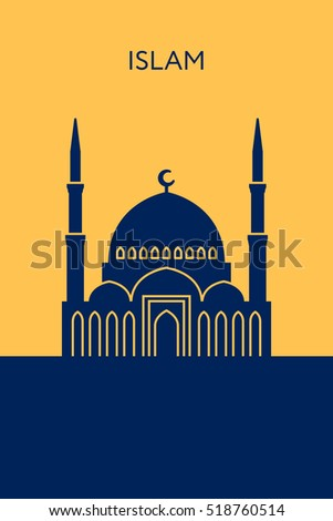 mosque icon islam concept