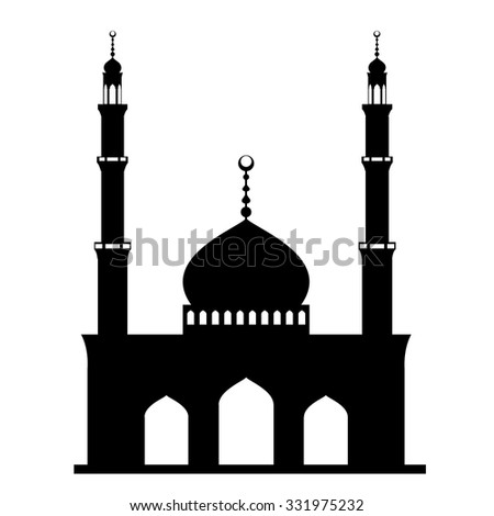 mosque or masjid on white