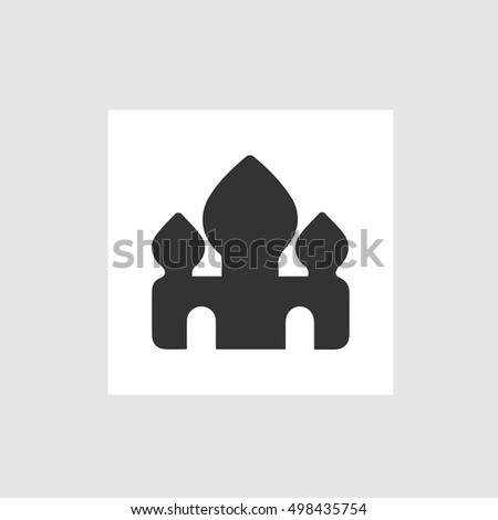 Mosque vector icon. Istanbul symbol. Simple isolated logo sign.