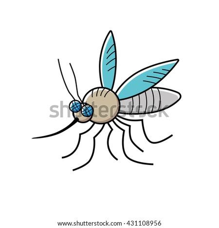 mosquito cartoon vector icon